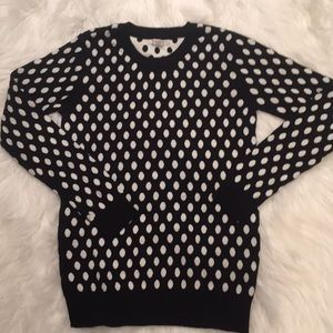 The prefect polkadots navy sweater
